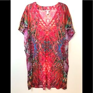 H&M Womens Cover Up Pink Multicolored Size Large